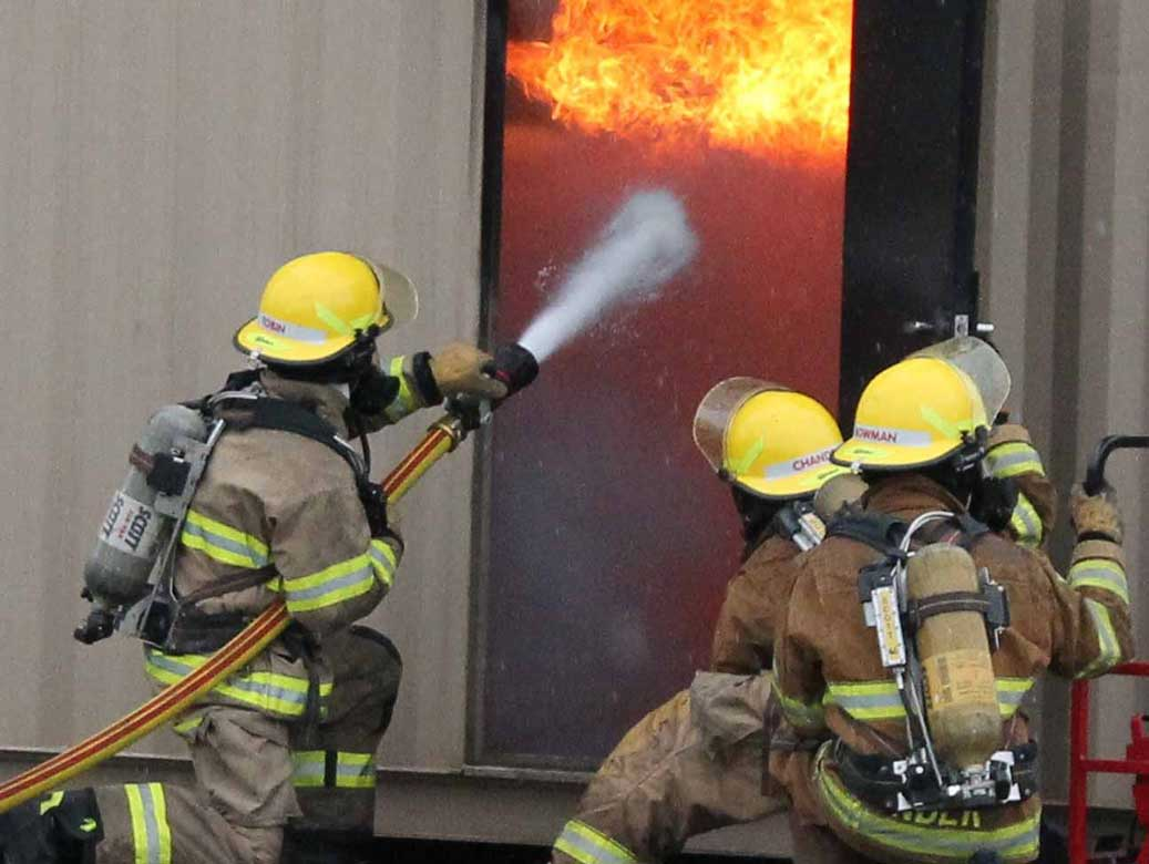 VR fire response training